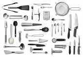 Kitchen Equipment And Cutlery Set