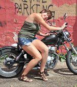 Female biker.