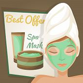 Woman in spa mask