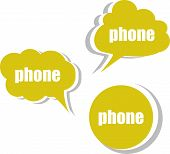 Phone. Set Of Stickers, Labels, Tags. Template For Infographics