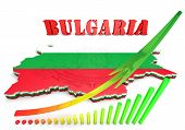 Map Illustration Of Bulgaria With Flag