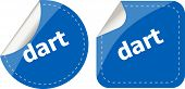 Dart Word Stickers Web Button Set, Label, Icon