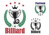 Billiard trophy cup