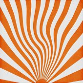 Orange Retro Sun Rise Waves Background