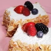 Cakes With Berries And Almond