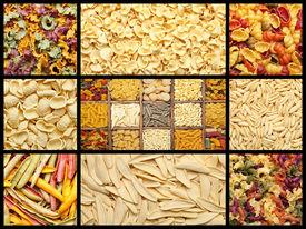 pic of pene  - Image of italian pasta set background texture - JPG
