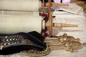 stock photo of torah  - Torah scrolls - JPG