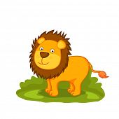 picture of lion  - Cute cartoon of lion - JPG