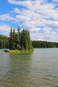 Mountain lake in Alberta, Canada