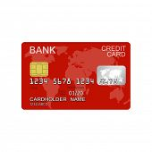 Detailed credit card isolated on white background for e-business, web sites, mobile applications, banners, corporate brochures, book covers, layouts etc. Vector eps10 illustration