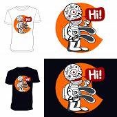 Skeletons. T-shirt. Hi.
