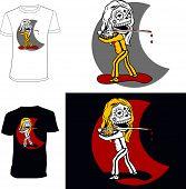 Skeletons. T-shirt. Lady Vengeance