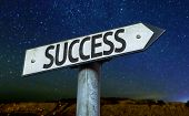 Success sign with a beautiful night background