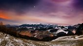 picture of planetarium  - Night landscape in the mountains in Bran - JPG
