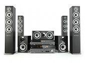 foto of home theater  - Home cinema speaker system - JPG