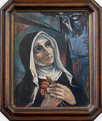GRAZ, AUSTRIA - JANUARY 10, 2015: Saint Rita of Cascia, Franciscan Church in Graz, Styria, Austria on January 10, 2015.
