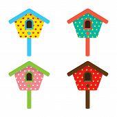 Colorful Birdhouses.