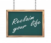 3D Hanging Banner - Reclaim Your Life