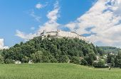 "stock photo of mozart  - Hohensalzburg Castle (Festung Hohensalzburg) literally ""High Salzburg Fortress"" at Salzburg Austria