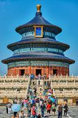 Beijing , China - September 24, 2014: people tourist visiting the Temple of Heaven Beijing China Beijing China