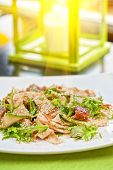 Salad with smoked eel. Japanese food