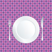 pic of mandible  - white plate on purple tablecloth - JPG