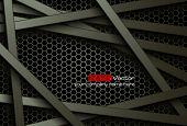 foto of honeycomb  - Black bars over dark honeycomb structure - JPG