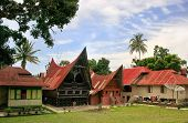 pic of southeast  - Traditional Batak houses on Samosir island Sumatra Indonesia Southeast Asia - JPG