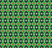 Seamless Background Of Geometric Ornament With Green Octagons