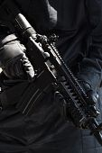 stock photo of special forces  - Closeup of an automatic M - JPG