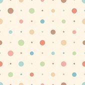 Color Seamless Textured Polka Dots Pattern