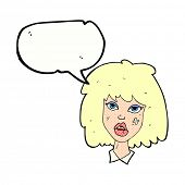 foto of bruises  - cartoon woman with bruised face with speech bubble - JPG