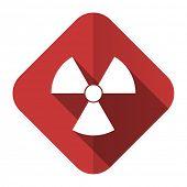 radiation flat icon atom sign
