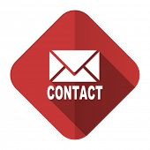 email flat icon contact sign