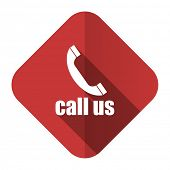 call us flat icon phone sign