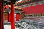 Courtyard Of A Pavillon In Forbidden City, Beijing, China, Oil Paint Stylization