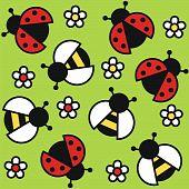 lady bug and bee