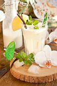 stock photo of pina-colada  - Pina Colada with pinapple and vanilla beans - JPG