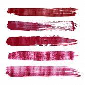 Red vector watercolor brush strokes