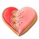 Saint Valentines Gingerbread - Stock Photo