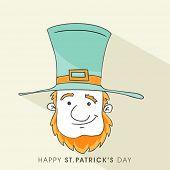 Happy St. Patrick's Day celebration with face of Leprechaun.