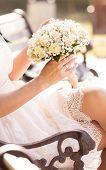 wedding bouquet at bride's hands