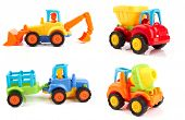 image of truck-cabin  - Colorful toy truck isolated on white background - JPG
