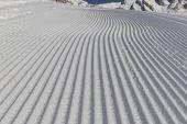 Desert Ski Slope In Winter Time