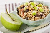 Healthy Bowl Of Muesli And  Apple For A Nealthy Breakfast
