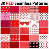 30 Red Seamless Patterns
