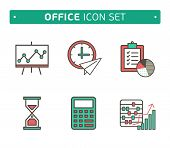 Marketing Strategy Icons. Simple glyph style icons. business and strategy development, design lines