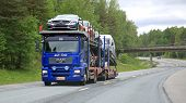 MAN Car Carrier Hauls New Cars