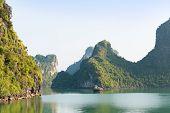 Ha Long Bay And Green Mountains Vietnam