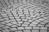 Cobblestones street for backgroundblack and white